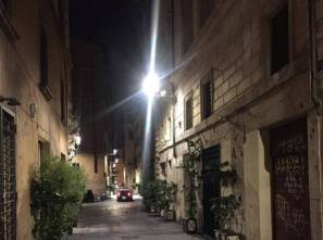 Lampione LED a Trastevere